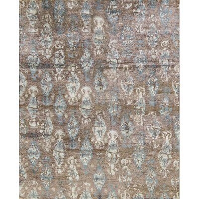 One-of-a-Kind Modern Hand-Woven Rust Area Rug