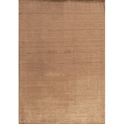 Gabbeh Hand Woven Silk Brown Area Rug