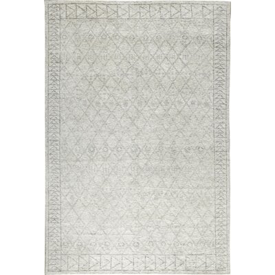 One-of-a-Kind La Ciel Hand-Woven Ivory/Silver Area Rug