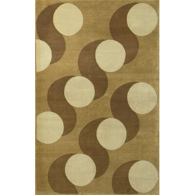 One-of-a-Kind Spring Hand-Woven Wool Beige/Tan Area Rug