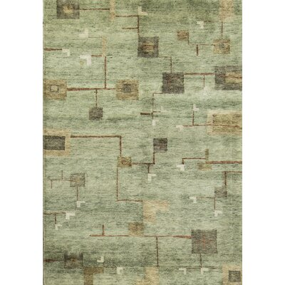 Indian Wool Light Gray/Gold Area Rug