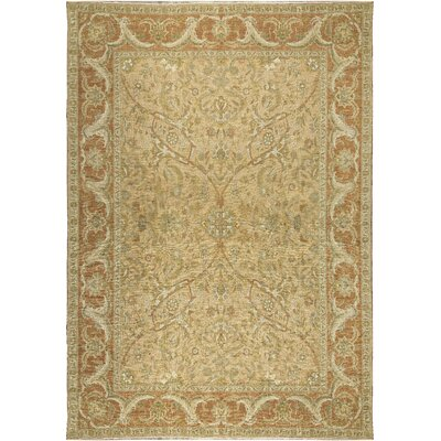 One-of-a-Kind Turkish Nature Hand-Woven Wool Beige/Rose Area Rug