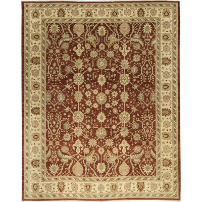 One-of-a-Kind Zarbof Temple Hand-Woven Wool Red/Gold Area Rug