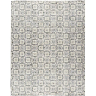 One-of-a-Kind Indian Hand-Woven Silver Area Rug