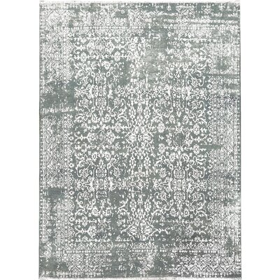 One-of-a-Kind Gabbeh Gallery Hand-Woven Gray Area Rug