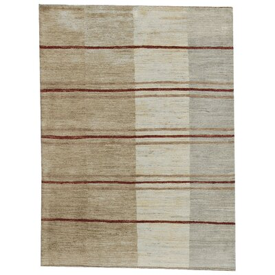 One-of-a-Kind Gabbeh Hand Woven Wool Light Ombre Area Rug