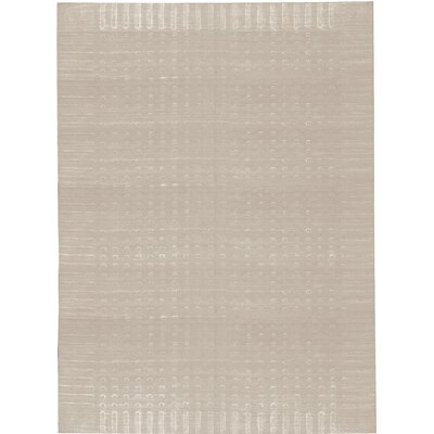 One-of-a-Kind Indian Hand-Woven Gray Area Rug