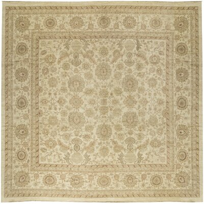 One-of-a-Kind Traditional Hand-Woven Beige/Brown Area Rug