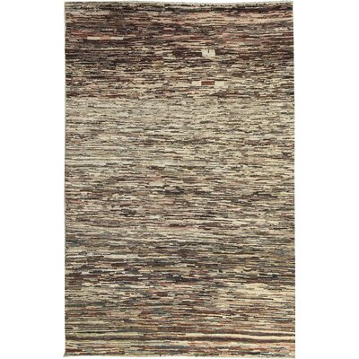 Afghan Multi Gabbeh Hand Woven Wool Brown/Beige Area Rug