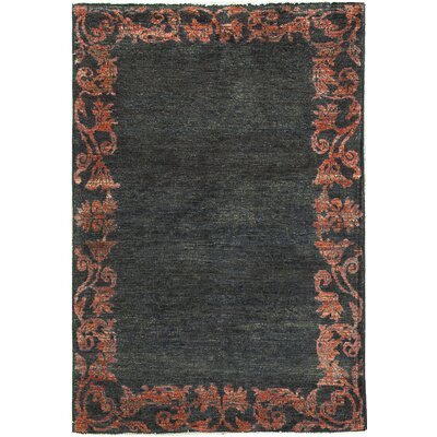 One-of-a-Kind Zarbof Quality Wool Red Moon Area Rug