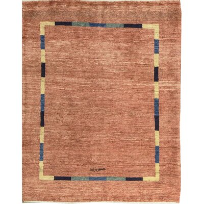 One-of-a-Kind Gabbeh Hand Woven Wool Light Brown Area Rug