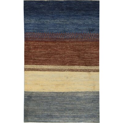 One-of-a-Kind Gabbeh Stripes Hand Woven Wool Ombre Area Rug