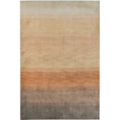 Gabbeh Hand Woven Wool Orange Area Rug