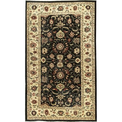 One-of-a-Kind Zarbof Hand-Woven Wool Black/Gold Area Rug