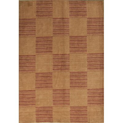 Gabbeh Hand Woven Wool Rust Area Rug