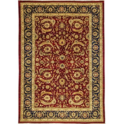 One-of-a-Kind Sultanabad Hand-Woven Wool Wine Area Rug