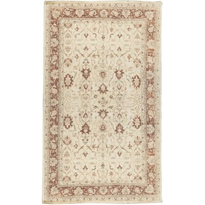 One-of-a-Kind Ziegler Hand-Woven Wool Cream/Brown Area Rug
