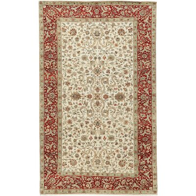 Mountain King Hand Woven Wool Ivory/Red Area Rug Rug Size: Rectangle 9 x 133