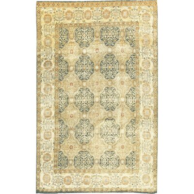 One-of-a-Kind Sona Hand-Woven Wool Light Blue/Cream Area Rug