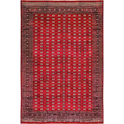 One-of-a-Kind Mori Hand-Woven Wool Red Area Rug