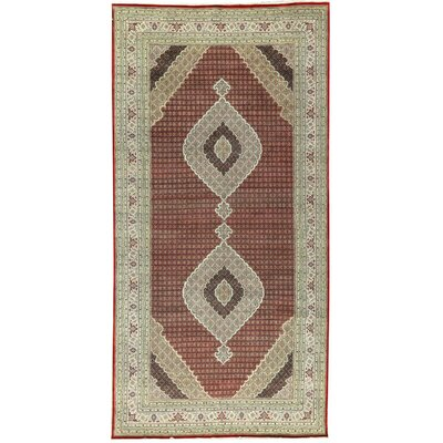 One-of-a-Kind Mahi Tabriz Hand-Woven Red/Ivory Area Rug