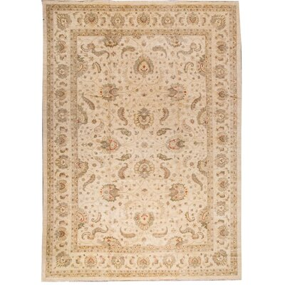 One-of-a-Kind Traditional Hand-Woven Wool Cream/Beige Area Rug