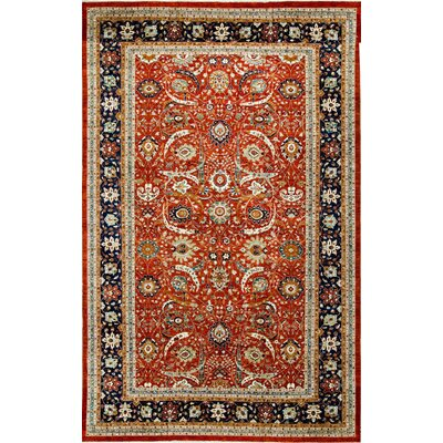 One-of-a-Kind Traditional Hand-Woven Wool Red/Blue Area Rug