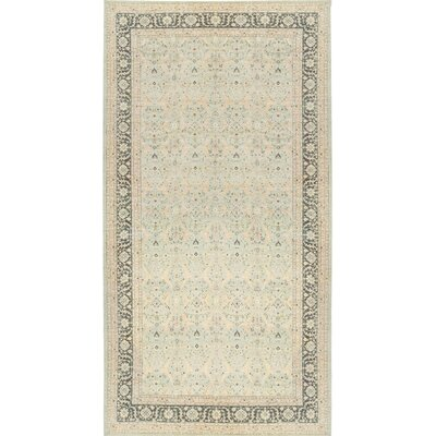 One-of-a-Kind Ziegler Hand-Woven Wool Light Blue/Gray Area Rug