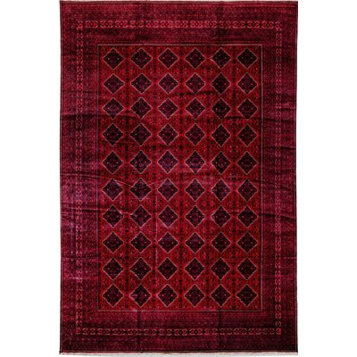 Afghan Bashir Wool Red Area Rug