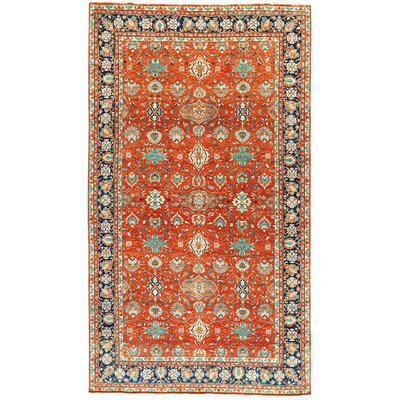 One-of-a-Kind Bakshahesh Hand-Woven Wool Red/Blue Area Rug