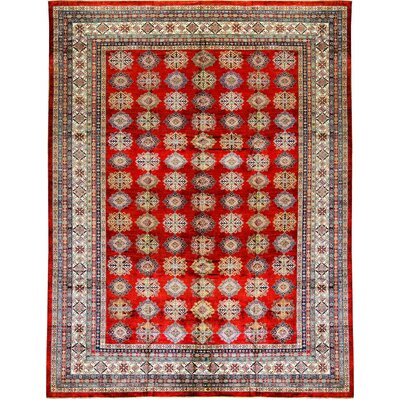 Kazak Wool Red/Beige Area Rug