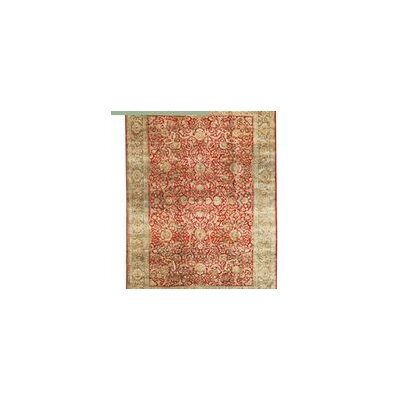 One-of-a-Kind Bikaner Hand-Woven Wool Red/Green Area Rug