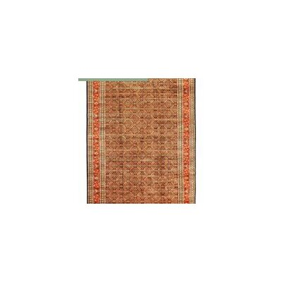 One-of-a-Kind Sona Hand-Woven Wool Navy/Rust Area Rug