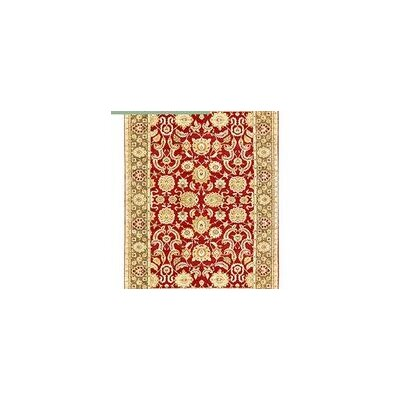 One-of-a-Kind Bikaner Antique Agra Hand-Woven Wool Red/Brown Area Rug
