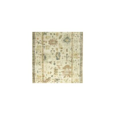 One-of-a-Kind Demirji Oushak Hand-Woven Wool Ivory Area Rug