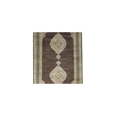 One-of-a-Kind India Hand-Woven Wool Brown/Beige Area Rug