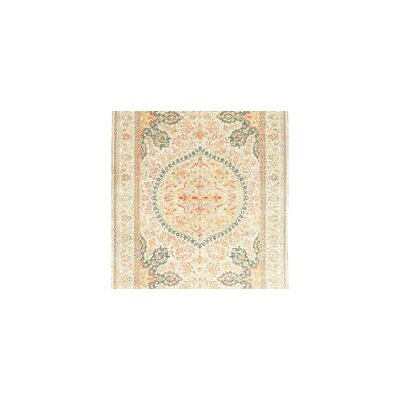 One-of-a-Kind Turkish Hand-Woven Wool Beige Area Rug