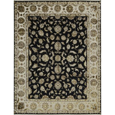 One-of-a-Kind Dharma Hand-Woven Black/Beige Area Rug