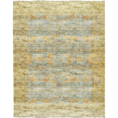 One-of-a-Kind Demirji Hand-Woven Wool Light Blue/Gold Area Rug