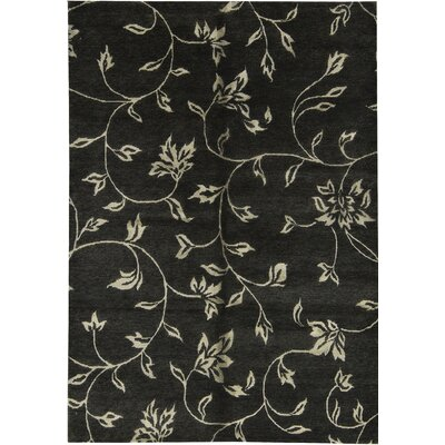 Himalayan Hand-Woven Black Area Rug