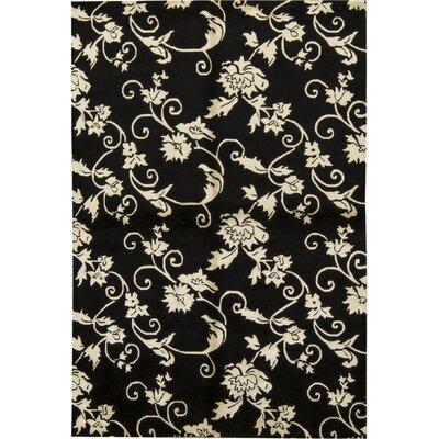Himalayan Hand-Woven Ivory/Black Area Rug
