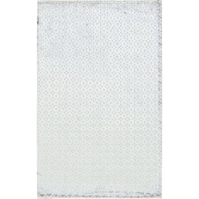 Snow Storm Hand-Woven Silver Area Rug