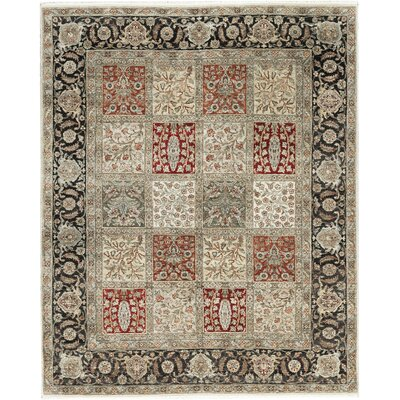 One-of-a-Kind Mountain Hand-Woven Wool Ivory/Rust Area Rug
