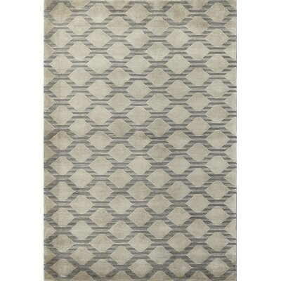 One-of-a-Kind Himalayan Hand-Woven Wool Gray/Beige Area Rug