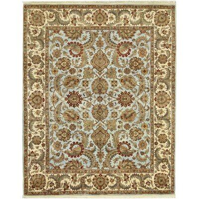 One-of-a-Kind Crown Hand-Woven Wool Brown/Beige Area Rug