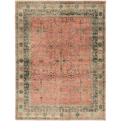 Sky View Hand-Woven Wool Green/Red Area Rug