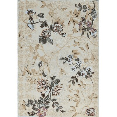 One-of-a-Kind Himalayan Hand-Woven Beige/Gray Area Rug