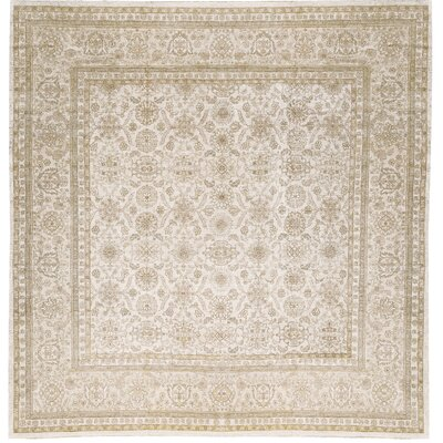 One-of-a-Kind  Sultanabad Hand-Woven Wool Beige Area Rug