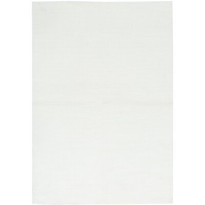 Hand-Woven White Area Rug