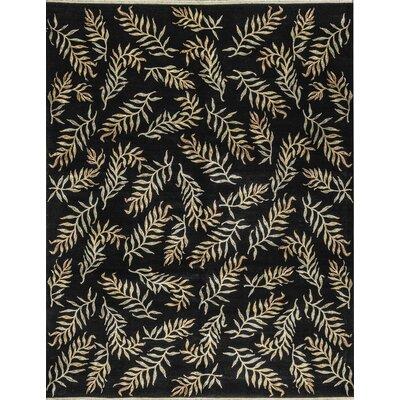 Chantel Hand-Woven Wool Black Area Rug